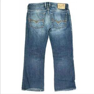 Diesel Jeans - Diesel Industry Mens Jeans Zatiny Button Fly blue